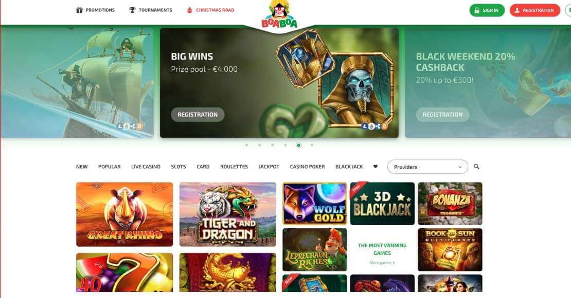 Play at Boa Boa Casino