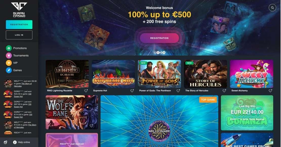 Buran casino india review