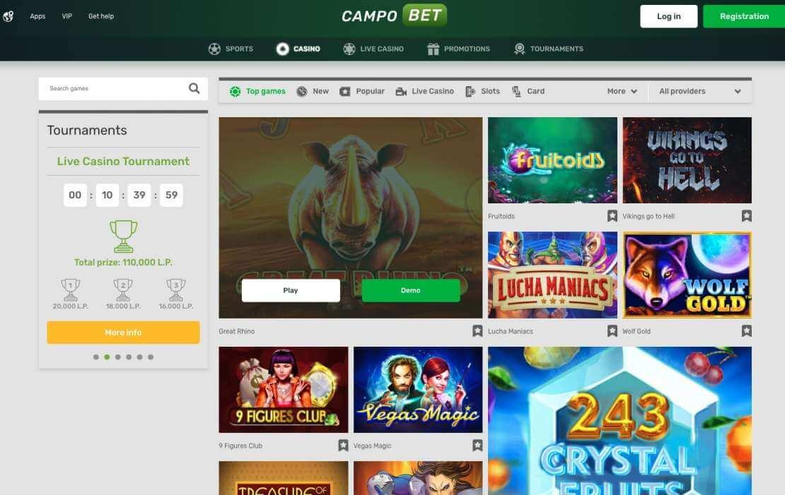 Campobet casino review India