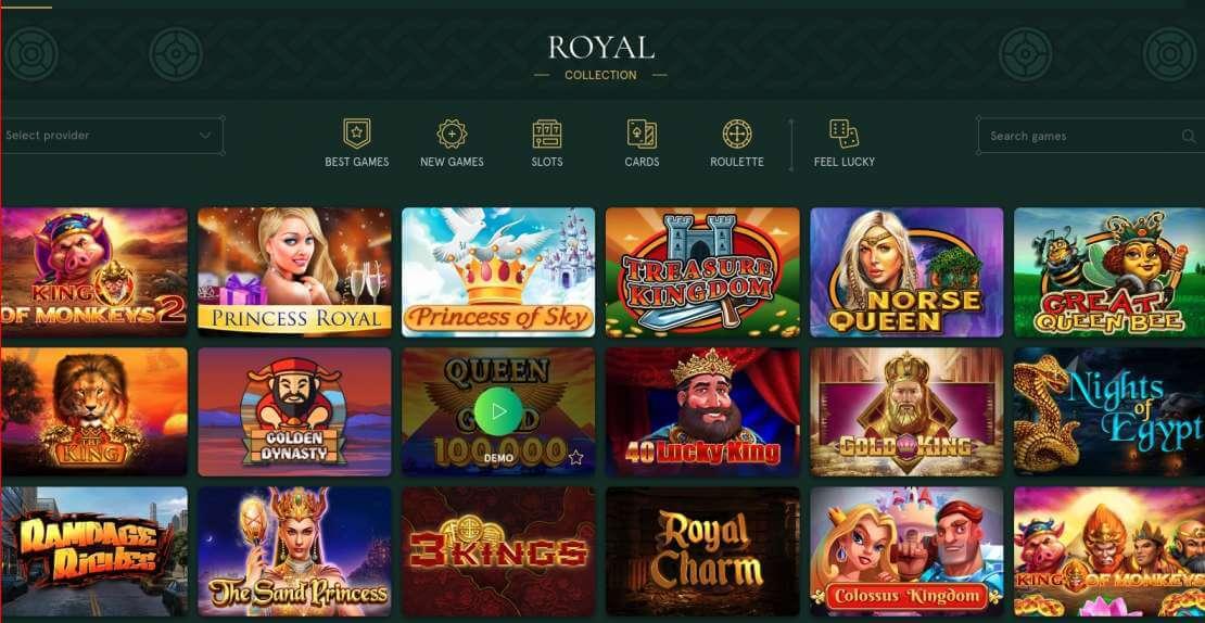 Casinia Casino games