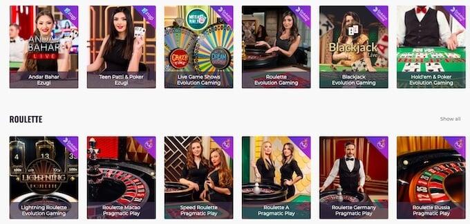 CasinoDays Live Casino
