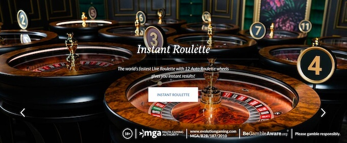 Evolution Gaming new Instant Roulette