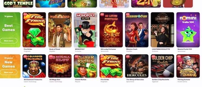 Nomini casino games