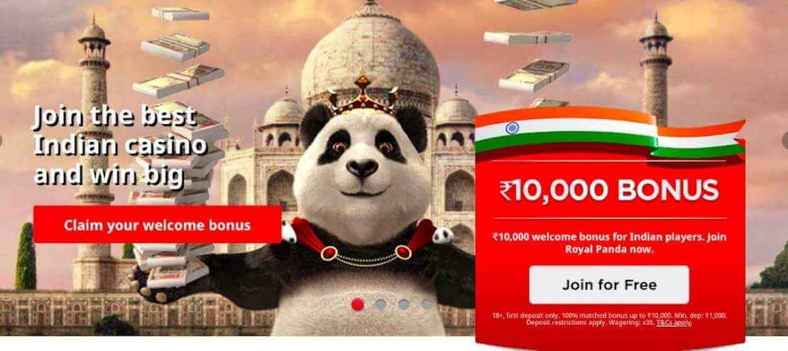 Royal Panda India site
