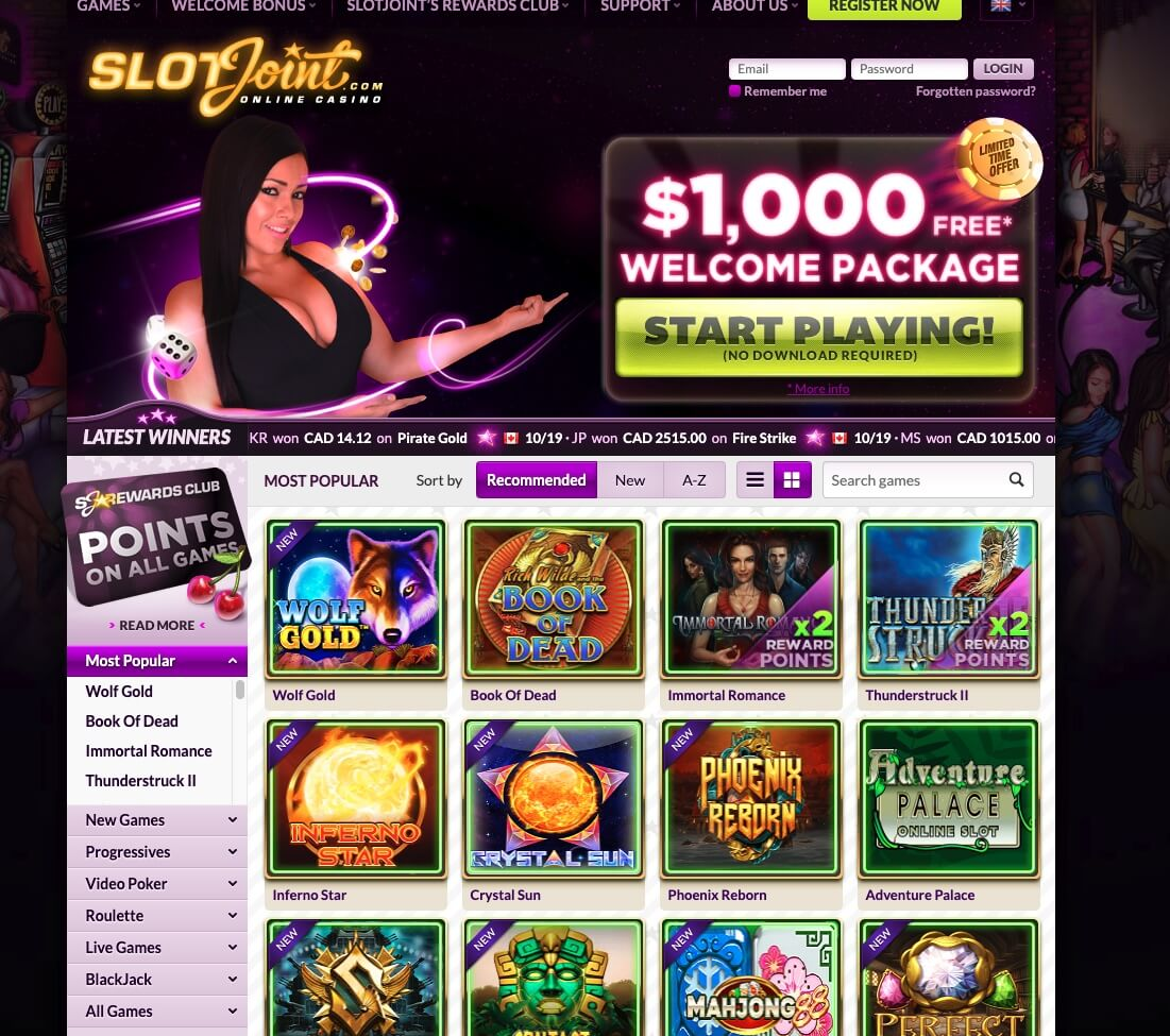 Slot Joint Casino India Review