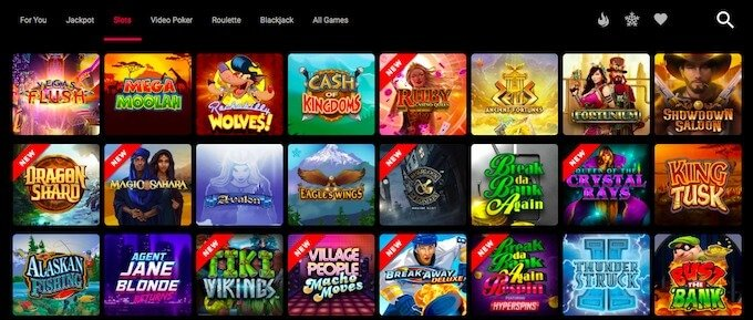 Spin casino online games