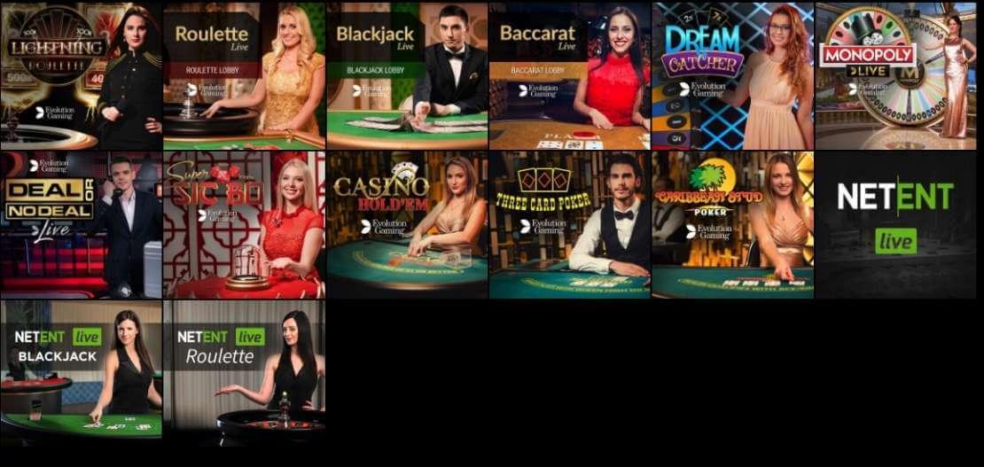 Voodoo live casino games